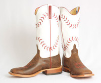 KID'S BASEBALL STITCHING TAN BOOTS BY ROPER