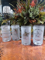 FROSTED MUG GLASSES WITH VARIOUS DESIGNS
