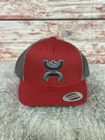 HOOEY RED/BRN DIAMOND TRUCKER