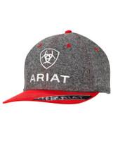 ARIAT LOGO CAP GRY/RED