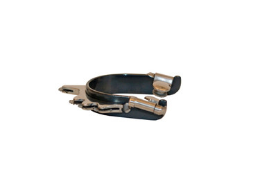 BLACK SATIN BUMPER SPUR WITH HORIZONTAL ROWEL FROM DENNARDS