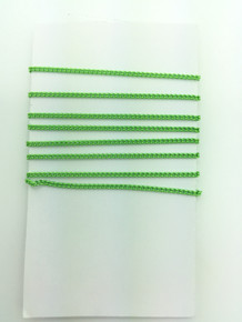 3 Feet of Lime Green 1.5mm Trace Chain