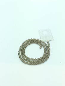 3mm Grey Faceted Bicone