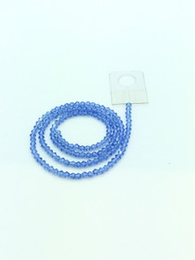 3mm Light Sapphire Faceted Bicone