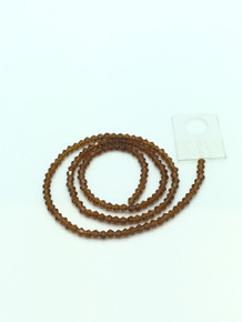 3mm Smoked Topaz Faceted Bicone