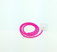 3mm Hot Pink Faceted Bicone