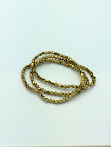 3mm Gold Faceted Bicone