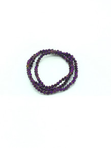 3mm Purple Flare Faceted Bicone