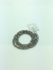 4mm Black Diamond Faceted Bicone