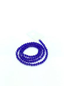 4mm Dark Sapphire Faceted Bicone