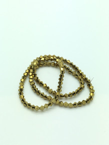 4mm Gold Faceted Bicone