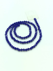 4mm Blue Porcelain Faceted Bicone