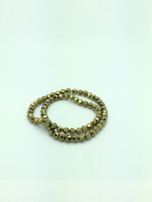 8mm Gold Faceted Round