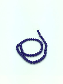 8mm Blue Porcelain Faceted Round