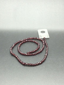 4x3mm Siam Faceted Rondelle