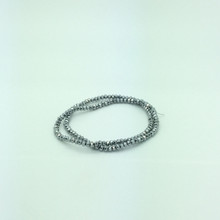 4x3mm Silver Faceted Rondelle