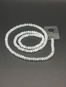 4x3mm Crystal AB Faceted Rondelle