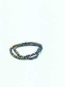 6x5mm Rainbow Faceted Rondelle