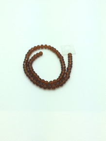 8x6mm Smoked Topaz Faceted Rondelle
