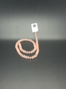 8x6mm Pinky Peach Faceted Rondelle