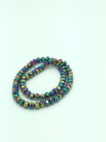 8x6mm Rainbow Faceted Rondelle