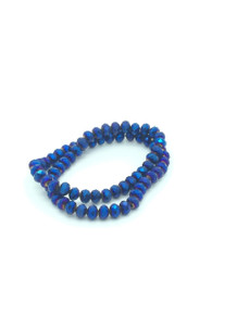 8x6mm Blue Flare Faceted Rondelle