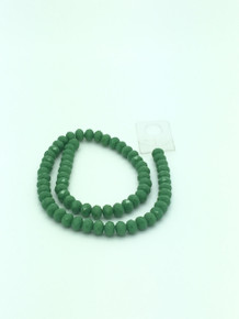 8x6mm Peridot Porcelain Faceted Rondelle
