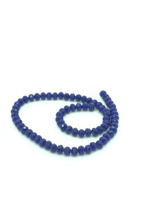 8x6mm Blue Porcelain Faceted Rondelle