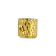 Scrimp Finding, Bullet, 4.5 mm (.177 in), Gold Plated, 10 pc