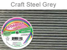 ECONOFLEX VERY FINE WIRE .010 DIA. 30 FT (9M) 1X7 STRAND STEEL GREY