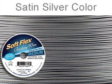 SOFT FLEX MEDIUM WIRE .019 DIA. 30 FT. 49 STRAND ORIGINAL SATIN SILVER