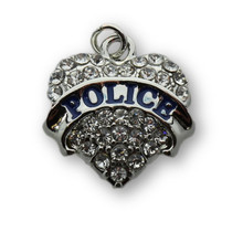 22mm Crystal Police Heart