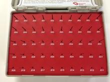 """Vermont Gage Pin Set, .0110"""" to .0600"""" Class ZZ, Minus Series, Black Oxide Set"""