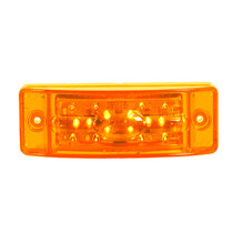 "Maxxima 6"" x 2"" Combination Clearance Marker - Amber"