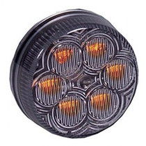Maxxima Vantage 2 Round Clearance Marker - Amber Clear - 6 LEDs