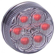 Maxxima Vantage 2 Round Clearance Marker - Red Clear - 6 LEDs