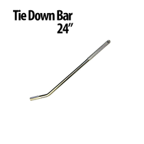 """24"""" Tie Down Bars-  Great for use with Auto Haulers! Winch Bars have a gripper handle and chrome plated solid steel design that helps you get a stronger and faster hold. Finish: Chrome Plated Textured Area for Gripping"""
