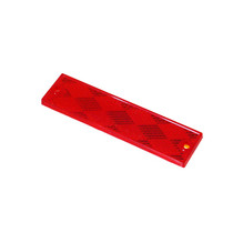 Grote 1 in.  x 4 in. Rectangular Reflector/Stick-On (Red)