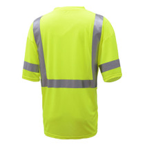 Class 3 Moisture Wicking Short Sleeve Safety T-Shirt with Chest Pocket Made from breathable and moisture wicking Birdseye polyester mesh, which helps regulate the body temperature of workers and reduces static electricity.