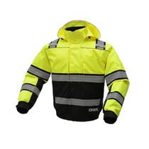 Onyx 3-in-1 Lime Waterproof Ripstop Bomber Jacket