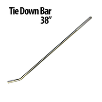 """38"""" Tie Down Bars - Great for use with Auto Haulers! Winch Bars have a gripper handle and chrome plated solid steel design that helps you get a stronger and faster hold. Finish: Chrome Plated Textured Area for Gripping"""