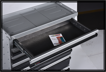 Jerr dan tool drawer with hardware and top pad