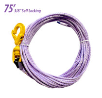 "3/8"" Synthetic Rope with Self Locking Hook, 75'"