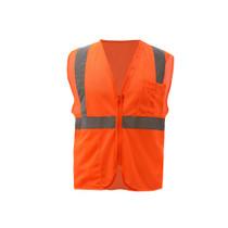GSS Class 2 Mesh Zipper Vest, Orange