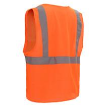 Class 2 Mesh Zipper Vest Orange