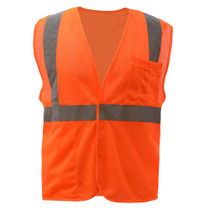 GSS Class 2 Mesh Hook & Loop Safety Vest, Orange
