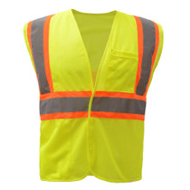 GSS Class 2 Mesh 2-Tone Hook & Loop Vest, Lime