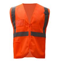 GSS Class 2 Mesh Zip Vest w/ID Pocket, Orange