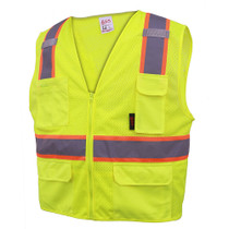 GSS Class 2, 6-Pocket Multivest, Two Tone, Lime