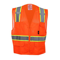 GSS Class 2, 6-Pocket Multivest, Two Tone, Orange